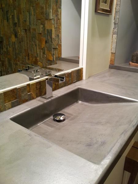 05 realisation du plan vasque , décor et resine