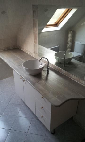 plan vasque en pin