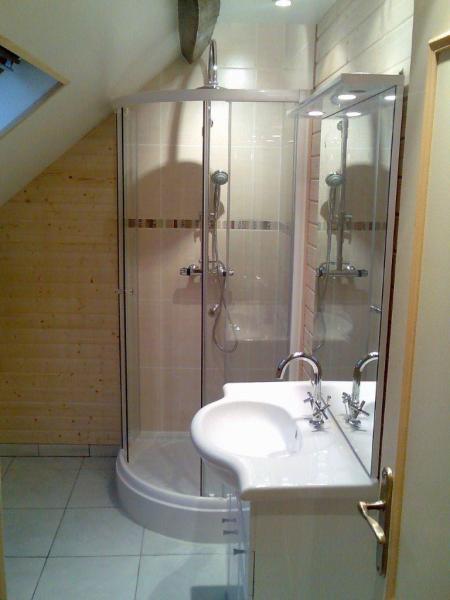 cabine de douche arrondie