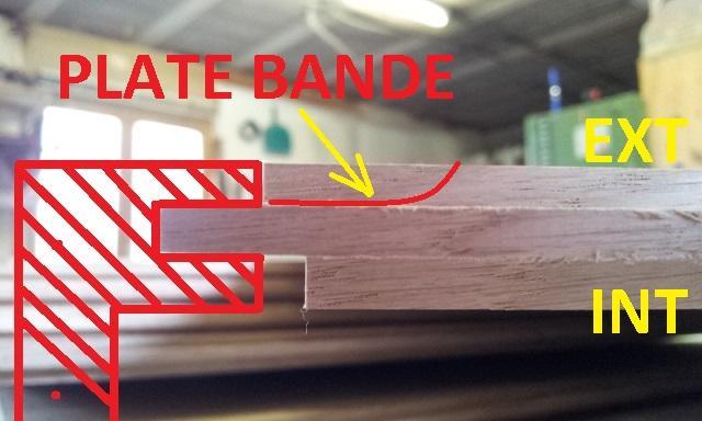 ebauche de la plate bande sur la partie exterieure
