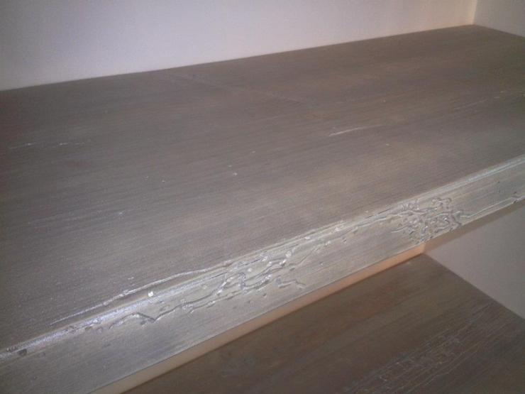 etagères bois vieilli