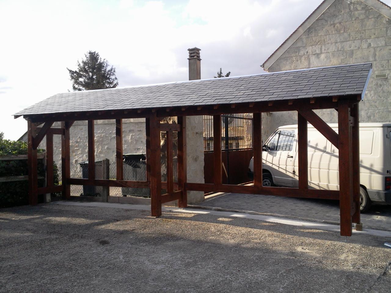 Construction d 39 un abri pour bois de chauffage - Abri pour bois de chauffage ...