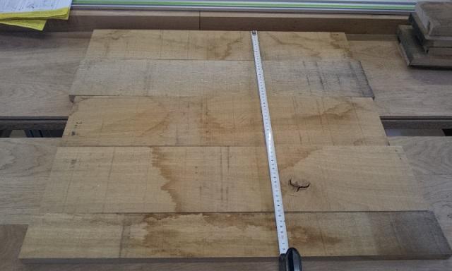 presentation des planches pour la  largeur recherchée des panneaux